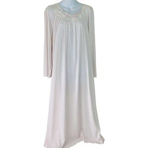 Vintage 746 Pink Long Sleeve Maxi Slip Dress Small